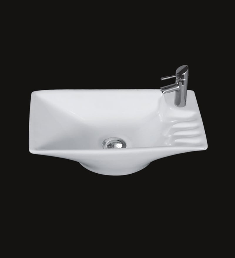 Exor White Ceramic Wash Basin (Model: 3008)