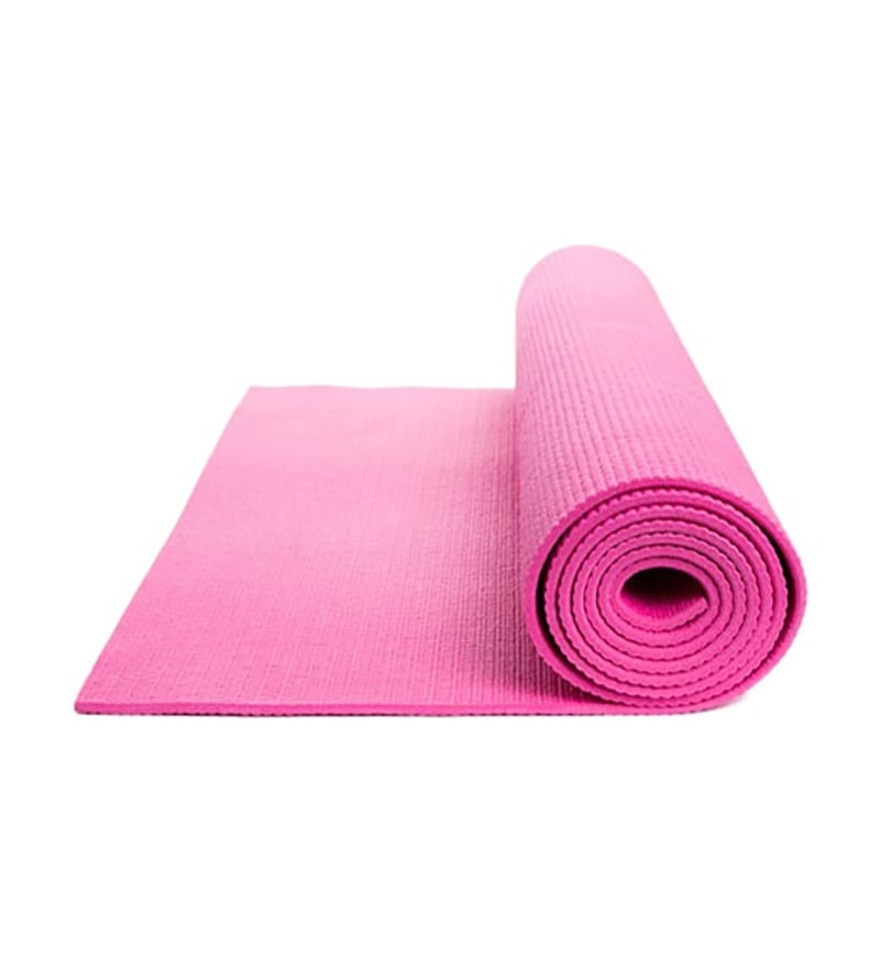 Pink PVC 71 x 23 Inch Premium Yoga Mat by Exporthub