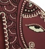 Exclusivelane Purple Recycled Wood Hand Painted Elephant Fridge Magnet Cum Photo Frame - Set of 2