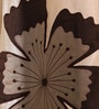 Brown & Ivory Polyester 53 x 84 Inch Bold Poppy Door Curtains - Set of 2 by Eyda
