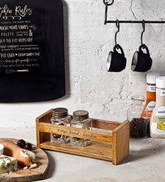 Fabuliv Brown Rustic Wooden Holder