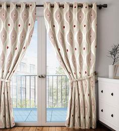 Faux Silk Semi Blackout 7.5 Feet Door Curtain - 1720110