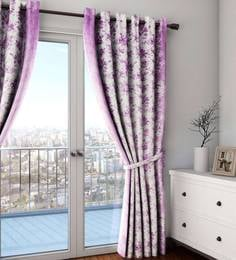Faux Silk Semi Blackout 9 Feet Long Door Curtain - 1720078