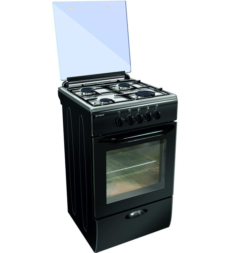 GST RELIEF DEAL - ADDITIONAL 5% OFF :: Faber 4 Burner PB Ignition Cooking Range w 44L Oven & Gas Grill (FCR-44L-BK-4B-4F-Black)
