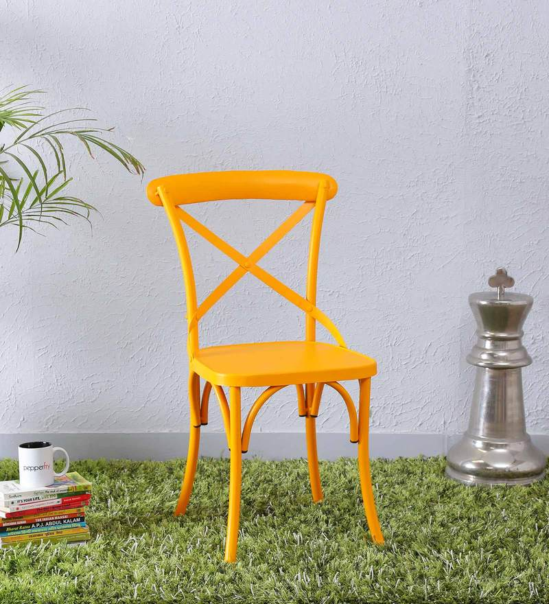 Fabian Metal Chair in Yellow Color by Bohemiana