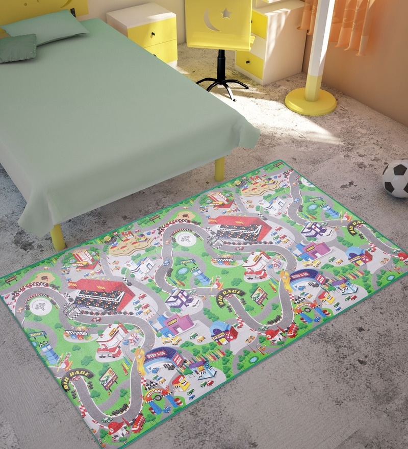 Race Track Multicolor Foam Play Mat by FashBlush