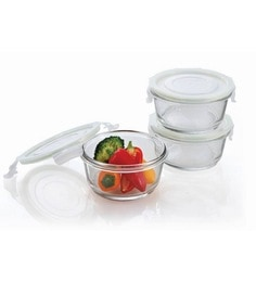 Femora Borosilicate Round Food Storage Container - Set Of 3