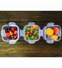 Femora Borosilicate Square Storage Container - Set Of 3