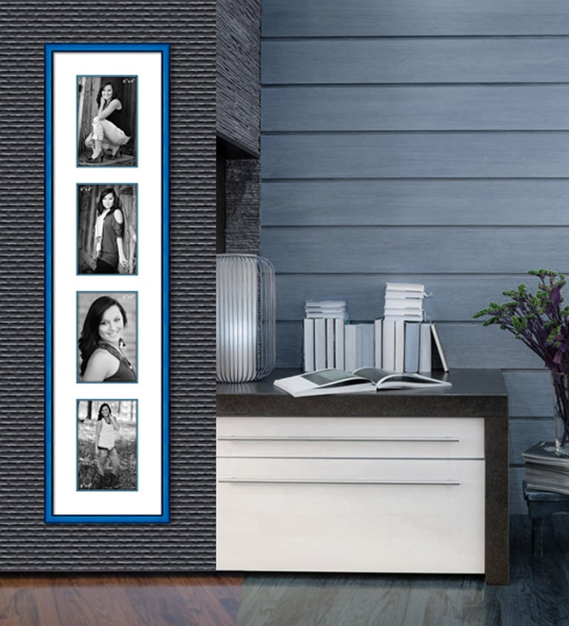 Blue Paper & Metal 7 x 1 x 30 Inch Collage Photo Frame by Elegant Arts and Frames