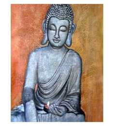 Canvas 20 X 30 Inch Buddha Unframed Handpainted Art Painting