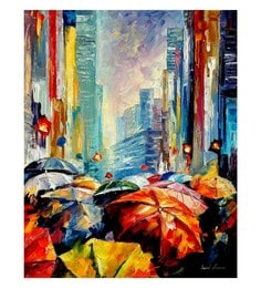 Canvas 24 X 30 Inch Umbrellas Unframed Handpainted Art Painting