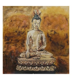 Canvas 32 X 32 Inch Buddha Unframed Handpainted Art Painting