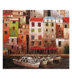 Canvas 32 X 36 Inch Venice Unframed Handpainted Art Painting