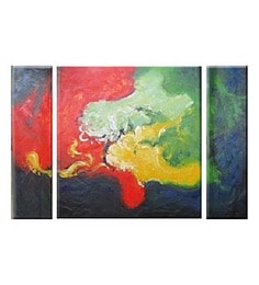 Canvas 48 X 32 Inch Aura Unframed Handpainted Art Painting