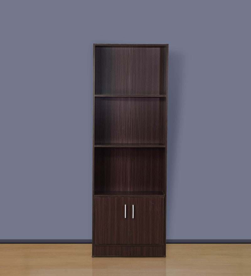 File Cabinet cum Book Shelf in Wenge Finish by DHEP Furniture