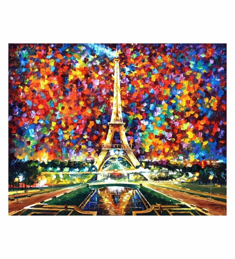 Canvas 40 x 30 Inch Paris of My Dreams Unframed Handpainted Art Painting by Fizdi Art Store