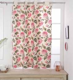 Floral Cotton 5 Feet Window Curtain