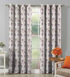 Floral Design Premium Cotton 5 Feet Window Curtain