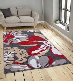 Floral Pattern Polyester 5 X 3 Feet Carpet ...