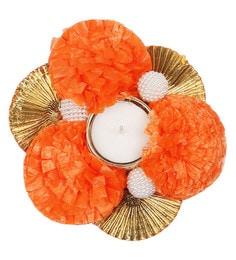 Flower Design Metal Tea Light Candle Holder - 1643550