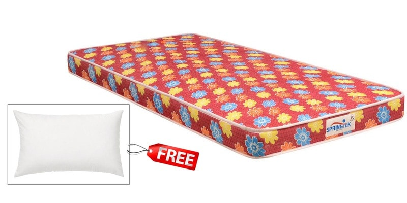 Flora Single Size (72 x 35) 4 Inches Thick Back Support Eco Mattress (FREE Pillow) by Springtek Ortho Coir