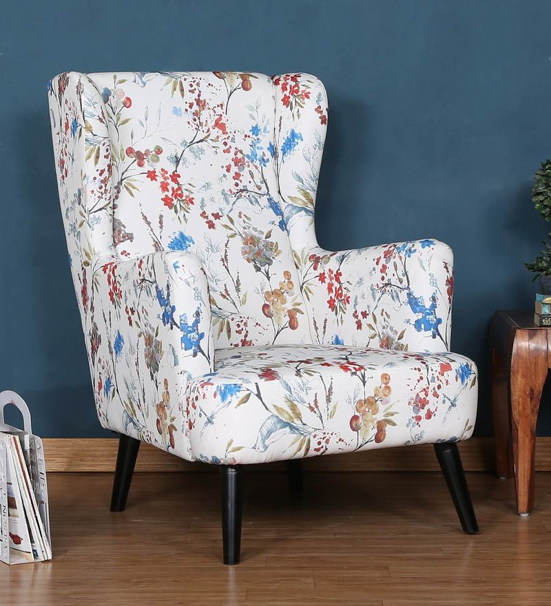 Florencia Wing Chair in Floral Design by CasaCraft