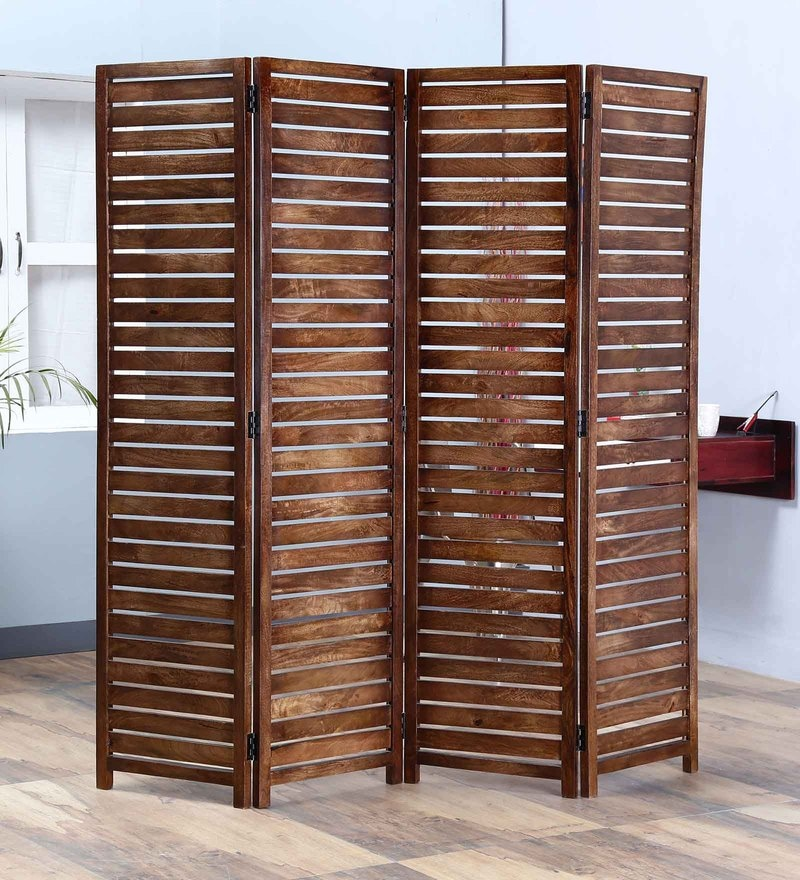 Teak Mango Wood Room Divider by Satyam International