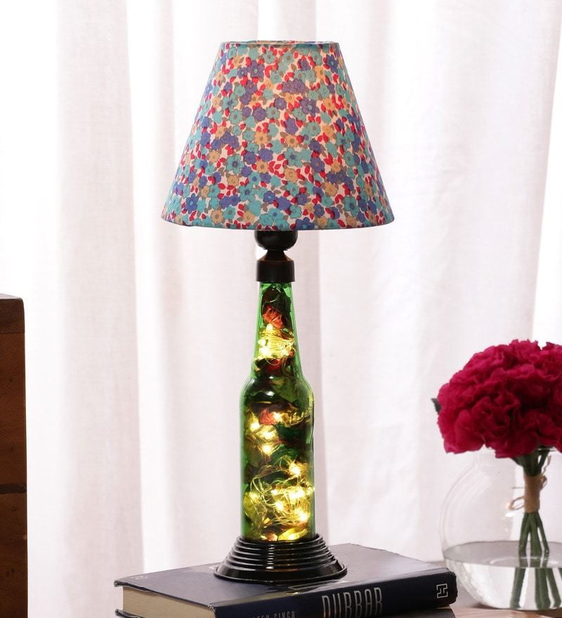 Buy kavi diy green glass table lamp online eclectic table lamps multicolour cotton table lamp by what scrap aloadofball Gallery