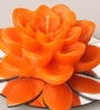 Candles N Beyond Orange Lotus Flower Candle