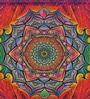 Fluke Design Company Sacred Mandala Decoupage Pink Aluminium 7.1 x 3.9 x 2 Inch Keepsake Box