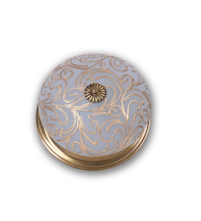 Antique Brass Jaipuria Brass Flush Mounted by Fos Lighting