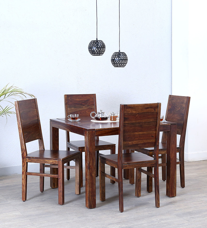 Oriel Four Seater Dining Set in Provincial Teak Finish by Woodsworth
