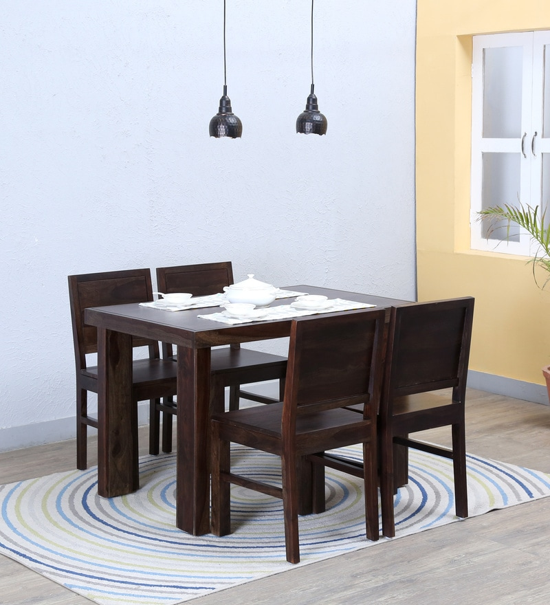 Acropolis Four Seater Dining Set in Warm Chestnut Finish by Woodsworth
