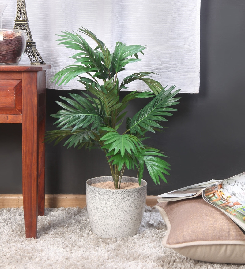 Green Synthetic Areca Artificial Plant with 21 Leaves by Fourwalls