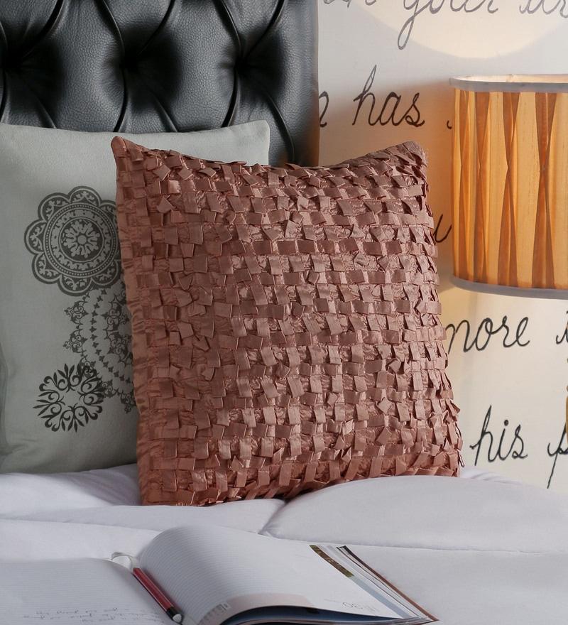 Foyer Pink Taffeta 16 x 16 Inch Loop Cushion Cover