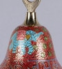 Frestol Red Brass Mandir Bell with Chain