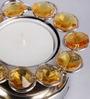 Frestol Yellow Steel Tea Light Holder