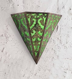 Furncoms Green Metal Wall Light - 1596671
