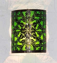 Furncoms Green Metal Wall Light - 1596685