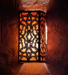 Furncoms Orange Metal Wall Light - 1596689
