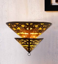 Furncoms Yellow Metal Wall Light - 1596694