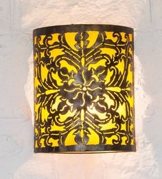 Furncoms Yellow Metal Wall Light - 1596684