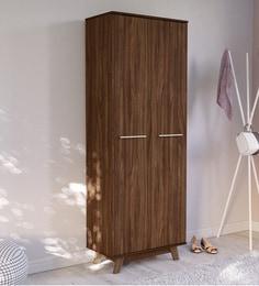 Furorida 2 Door Wardrobe In Dark Brown Finish ...
