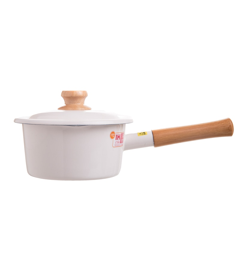 1600 ML Sauce Pan with Lid - White by Fujihoro