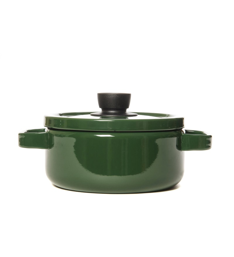 Fujihoro 3000 ML Casserole With Lid - Olive Green