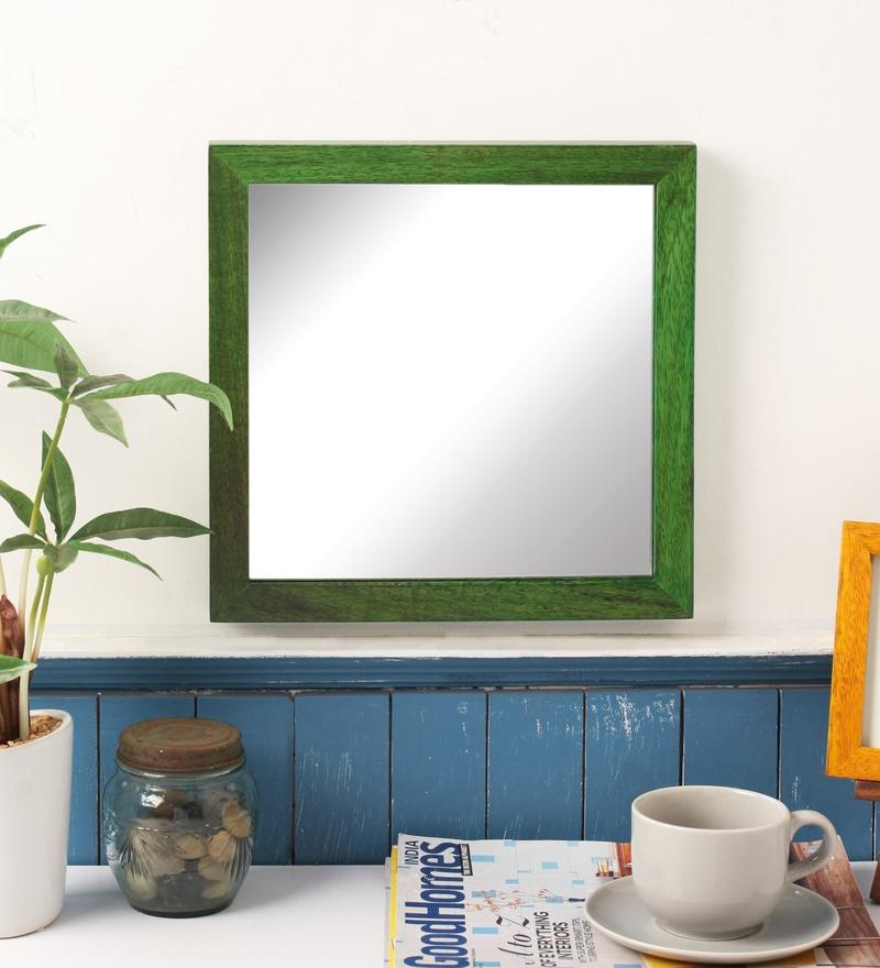 Green Mango Wood Mirror by Furnicheer
