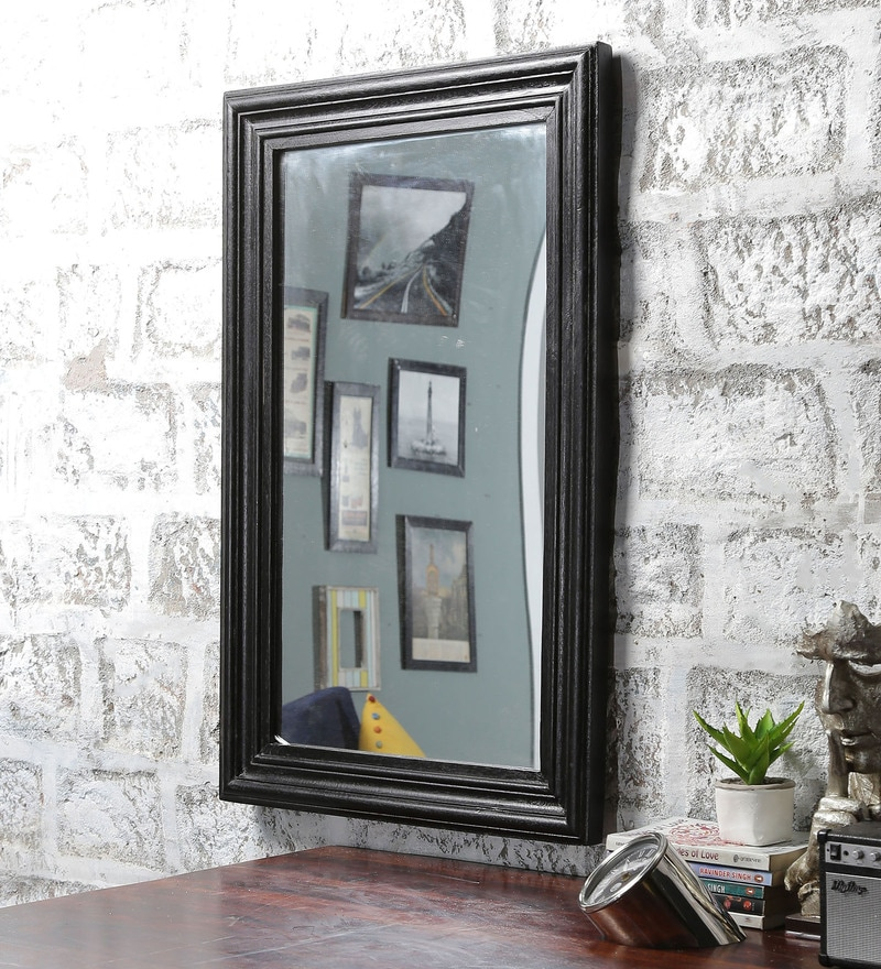 Walnut Mango Wood Framed Mirror by Furniselan