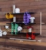 Brown Mild Steel Durable & Easy to Clean Cubic Wall Shelf - Set of 3 by Home Sparkle