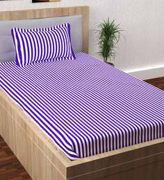 Geometric Pattern 208TC Cotton Single Bed Sheet With 1 Pillow Cover ...