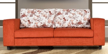 Genessa Three Seater Sofa In Rust Colour By Cloud 9